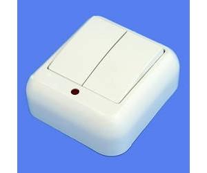 А56-007 Прима О/У крем выкл 2 кл с подсв (22398)