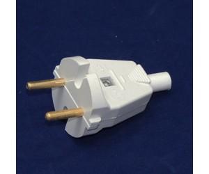 Вилка плоская В6-001 6А белая (20шт.)