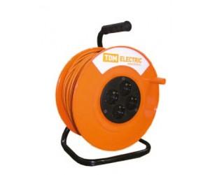 Удлинитель на катушке УК50 4гнезда 2Р+Е/50метров 3х1,5мм 2 (12582) ТДМ