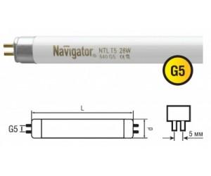 Лампа Т5/ 13W 840 G5
