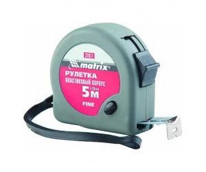 Рулетка MATRIX 5м х 19мм карманная пласмассовый