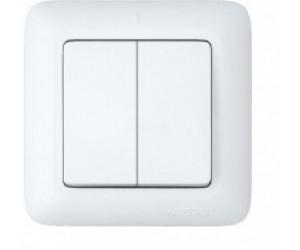 С56-043 Прима выключатель 2 кл с/п белый (88181)