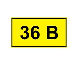 Символ 36В 35х100мм ИЭК