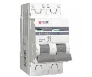 Авт.выкл. ВА47-63 2Р 25А C PROxima с опломбировкой EKF(96676)