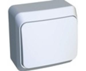 ВА10-001b ЭТЮД Выключатель 1-кл белый ОП (25)