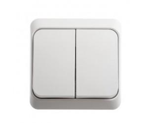 ВА10-002b ЭТЮД Выключатель 2-кл белый ОП (25) (69005)