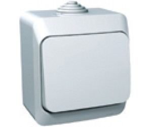 ВА10-041b ЭТЮД выключатель 1-кл ОП белый IP44 (14) (17771)