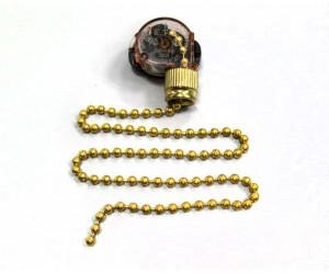Выключатель для бра цепочка золото