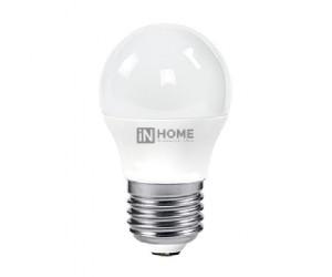Лампа светодиодная ШАР 4Вт Е27 4000К  IN HOME