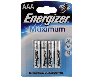 Элемент питания ENERGIZER E92/LR03 Maximum BP4