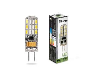 Лампа светодиодная LB-420 2Вт 12В G4 4000К капсула силикон Feron