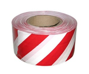 Лента оградительная 50мм*200м бело-красная 888 5010150 (26639)