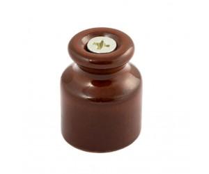 Изолятор керам.GE70020-04 д/нар Упак.24шт. D20х24 коричн. для витого каб. 2х1,2х1,5,2х2,5 (404455)