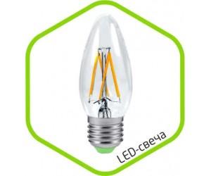 Лампа светодиодная C37-Premium 5Вт Е14 3000К 450Лм 220В прозр. ASD(69999)