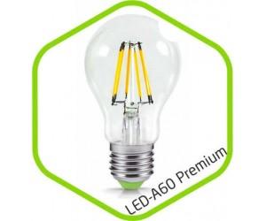 Лампа светодиодная A60-Premium  8Вт Е27 3000К 720Лм 220В прозр. ASD