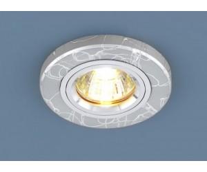 Светильник точечный EL 2050/2 серебро (42258)