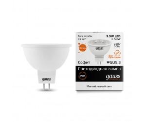 Лампа светодиодная LED JCDR GU 5.3  5.5W 2700К Gauss Elem.