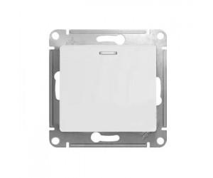 Глосса GSL000113 Механизм выключателя 1-клав. с подсв. бел.