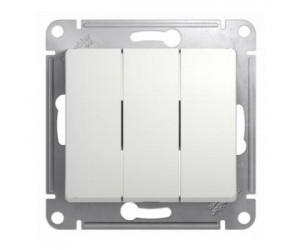 Глосса GSL000131 Механизм выключателя 3-клавишн. бел.