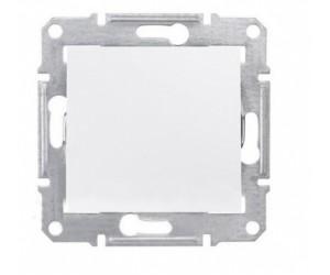Седна Выключатель 1-кл. белый SDN0100121 (89304)