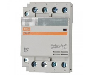 Контактор модульный КМ63/4-40 4НО (220В)