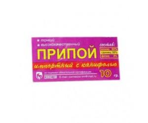 Припой с канифолью 10гр d=-1,0мм (Sn60 Pb40 Flux 2.2%) REXANT(47227)