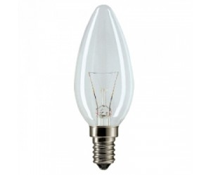 Лампа накаливания В35 60Вт Е14 220В прозрачная ASD