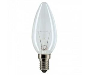 Лампа накаливания В35 40Вт Е14 220В прозрачная ASD