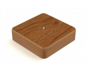 Коробка расп. GE41215-12 (75*75*28) отк.уст. Дуб (80шт.) Greenel