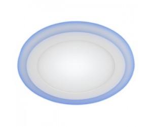 Светильник светодиодный с cиней подсветкой LED3-9Вт 220В 4000K круг ЭРА