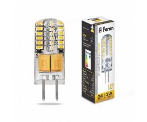 Лампа светодиодная LB-422 3Вт 12В G4 2700К капсула силикон Feron