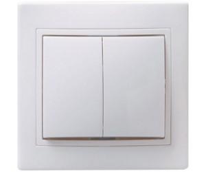 Кварта ВС10-2-0-КБ Выключат.2-клав с/у 10А бел. ИЭК(10)