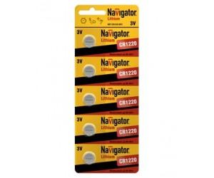 Элемент питания Navigator 94778 CR 1220-BP5 3В