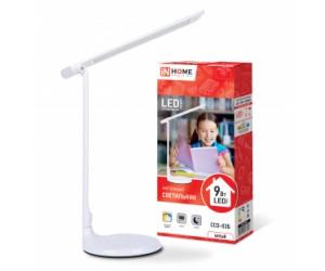 Настольная лампа LED ССО-01Б 8Вт сенс.димм.RGB бел.IN HOME