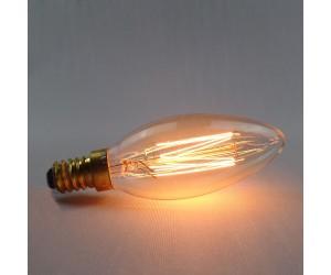 Лампа накал. 40Вт Е14 С35 GOLD Jazzway RETRO(свеча)
