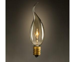 Лампа накал. 40Вт Е14 СА35 GOLD Jazzway RETRO(свеча на ветру)