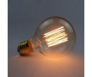 Лампа накал. 40Вт Е27 G80 GOLD Jazzway RETRO(шар)
