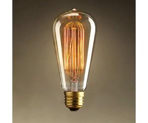 Лампа накал. 40Вт Е27 ST64 GOLD Jazzway RETRO(конус)