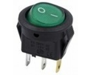 Переключатель микро зеленый 3А 250V (2/3 положения)