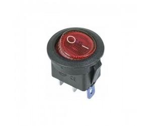 Переключатель микро красный 3А 250V (2/3 положения)