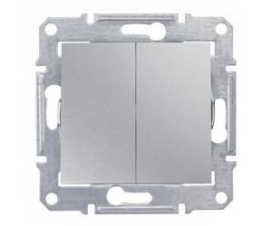 Седна Переключатель 2-кл. алюм. SDN0600160