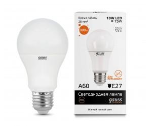 Лампа светодиодная LED А60 10W E27 2700 Gauss Elem.