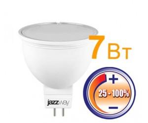 Лампа светодиодная PLED-DIM JCDR 7Вт 3000К 500Лм GU5.3 Jazzway (98862)