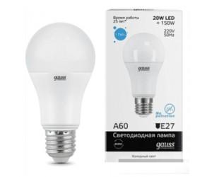 Лампа светодиодная LED А60 20W E27 6500 Gauss Elem