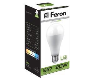 Лампа светодиодная LB-98 20Вт Е27 4000К Feron