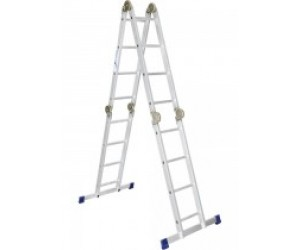 Лестница 4х3 ступени алюмин. шарнирн. (Россия) (97790)
