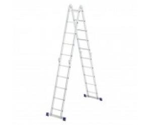 Лестница шарнирн. алюм. 4х5 (Россия) (97883)