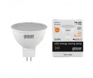 Лампа светодиодная LED JCDR GU 5.3  7W 2700К Gauss Elem.