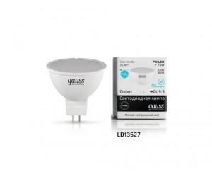 Лампа светодиодная LED JCDR GU 5.3  7W 4100К Gauss Elem.
