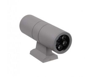 Светильник светодиодный  РWL-26090/24D Grey 10Вт(2*5) 6500К 700Лм IP65 фасадный Jazzway